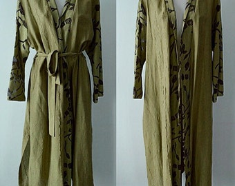 Vintage Robe, Vintage Dressing Gown, Vintage Ladies Robe, Simon Chang, Subrosa, Green Bathrobe, Vintage Bathrobe, Robes