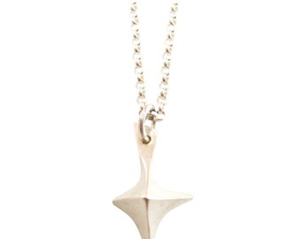 True North Necklace | silver necklace | silver pendant | matte silver | eco friendly silver |solid silver necklace | star necklace |sobriety