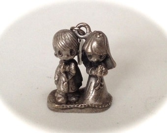Precious Moments Pewter Getting Married Charm – 1981