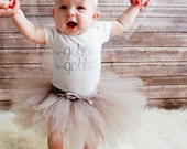 Baby girl Thanksgiving Outfit, thanksgiving tutu and bodysuit with silver vinyl, thanksgiving dress, gobble gobble, first thanksgiving