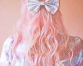 Cream Unicorn Bow, Cute Kawaii Unicorn Hair Bow in Medium