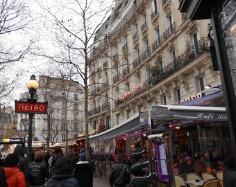 Paris Photo Download of Cafe in Winter