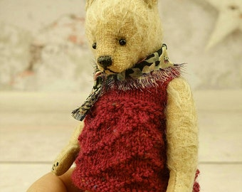 Indie, Miniature  Mohair Artist Teddy Bear from Aerlinn Bears