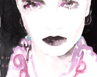 Mini Original Fashion Painting, Christian Dior Sketch, Dior Fashion Illustration, Fashion Painting, Fashion Art, Watercolor Fashion,