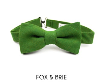 sale / Fern Chambray Kids Bow Tie