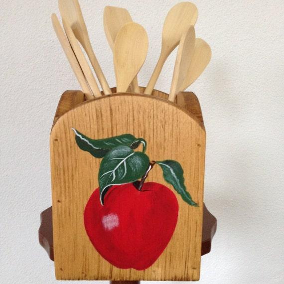 Kitchen utensil holder utensil holder apple kitchen utensil - Unique kitchen utensil holder ...