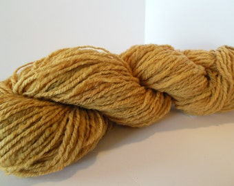Hand Spun BFL Wool Yarn Worsted Weight Sandalwood Color