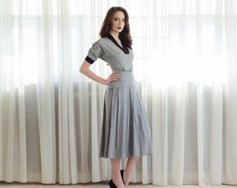 Vintage 1950s Plaid Dress - 50s Dress - Lucky Number Dress