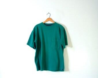 Vintage 90's teal shirt, American Eagle, size large