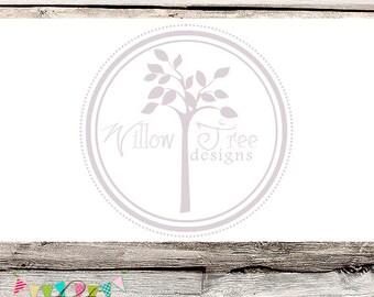 Premade tree logo etsy for Premade floor plans