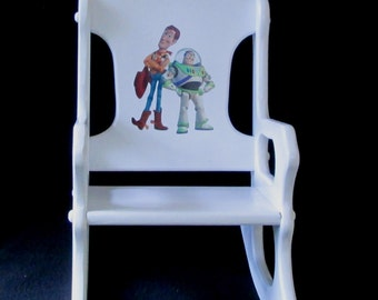 Rocking Chair Toy Story with Woody and Buzz Lightyear