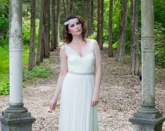 Bridal Belt Handbeaded with Czech Crystals