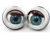 10 pairs , 20 pcs. doll sleepy Winking flirty blinking metal blue eyes 20mm
