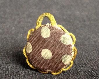 Precious relics. Vintage polka dots lovely scapular.