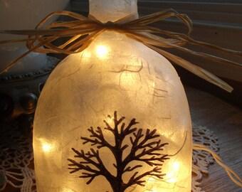 Bare Tree Beer Bottle Lamp