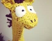 knitted giraffe toy, giraffe plush, kids toy, giraffe stuffie, soft toy