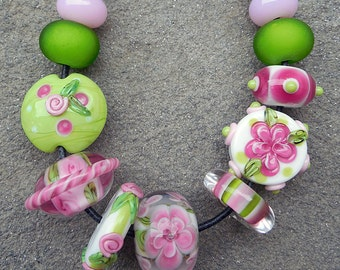 Nantucket, Set 2 Lampwork Beads