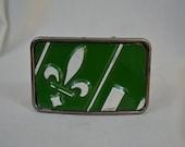 Fleur de lis  License Plate Belt Buckle