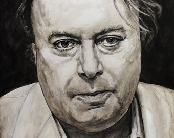 Christopher Hitchens, Print from Original Painting