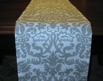 Grey Amsterdam TABLE RUNNER Table top -Christmas Holidays-Weddding -Kitchen-Bridal Shower- Holidays-Valentines Day