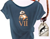 BOGO HALF Off Closeout Sale! BB-8 Rey's Droid Star Wars Shirt. Slouchy  Off-The-Shoulder w/Raw Edges. Buy Any 2 Sale Items To Get Half Off!