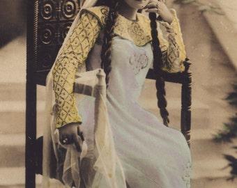 Enthroned Beauty, Russian Opera Star Vera Nimidoff by Reutlinger, circa 1905