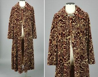 vintage TAPESTRY coat • full length victorian boho cape coat
