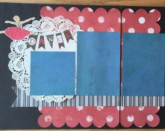 Ballet Recital Scrapbook Page Premade Dance Scrapbook Page Ballet Scrapbook Page Ballerina Scrapbook Page