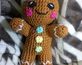 Crochet Gingerbread Man  READY TO SHIP