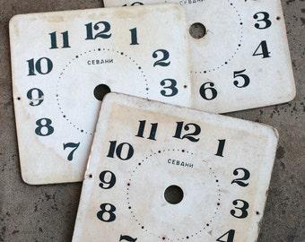 Vintage Alarm Clock Faces -- cardboard -- D11
