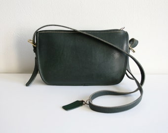 Green Coach Leather Purse