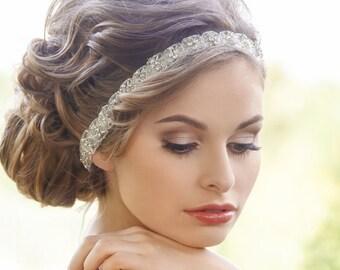 Crystal Bridal Headband, Rhinestone Bridal Headband, Bridal Headpiece, Wedding Hair Accessories, Bridal Headband, Bridal Hair