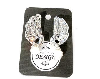 Vintage Rhinestone and Pearl Bridal Earrings Handmade Vintage Jewelry by Dabchick Vintage Gems