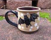 Bat Mug - stoneware coffee cup