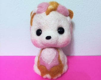Puppy Dog Felted / Soft Sculpture / Needle Felted animal / Cute Kawaii Puppy