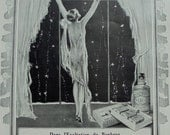 1920's Genuine French Advert - 4711 Eau de Cologne Christmas Ad & Movado Watches