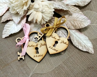 150 Heart and Key Wedding Favors love locks
