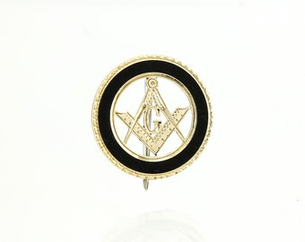Antique Masonic Pin  14K Gold -1900