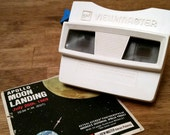 Vintage GAF View-Master Red and White Apollo Moon Landing