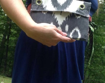 Charcoal Tribal Clutch