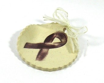 Ceramic Spoon Rest / Tea Bag Holder - Crohn's Disease Awareness (OOAK Coffee Spoon Rest, Tea Bag Rest - Gift Set, Comes With Sample Teas)