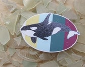 Killer Whale Orca Sticker - Waterproof Decal