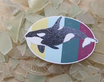 Killer Whale Orca Sticker - Waterproof Decal