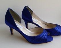 Sapphire Blue Wedding Shoes Sapphire Blue Bridal Shoes Sapphire Blue Bridesmaid Shoes  PICK FROM 100 COLORS Bridesmaid Shoes