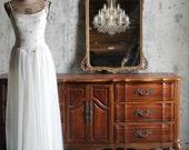 A N T I Q U E, Old Hollywood Mirror Beach Cottage Romantic Home Decor