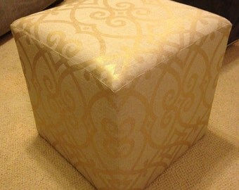Canvas Upholstered Ottoman
