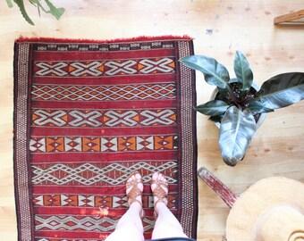 vintage hand knotted Turkish rug