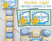 SCOUT LAW Nugget Wrappers, Blue & Gold Treat for Cub Scouts - Printable Instant Download