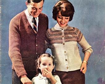 BERNAT RAGLANS HANDICRAFTER Book No. 97 Knitting for Women Men Children 1960s