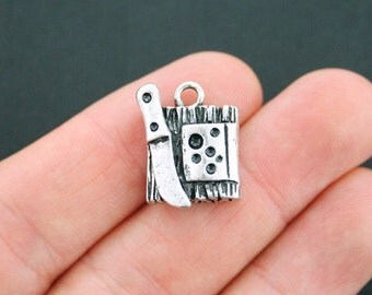 2 Cheese Charms Antique Silver Tone Cheeseboard Wine charm - SC5007